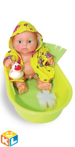 Кукла-мальчик Карапуз в ванночке