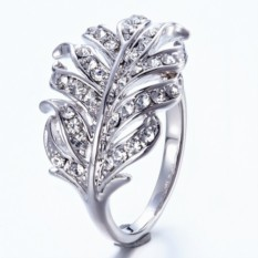 Кольцо с кристаллами Сваровски «Венец»