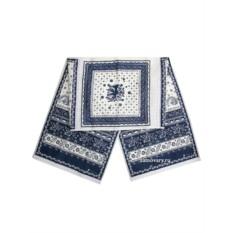 Синий рушник для каравая Артель с кружевом