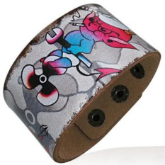 Кожаный браслет Fashion Steel