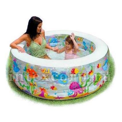 Надувной бассейн «Аквариум» Deluxe