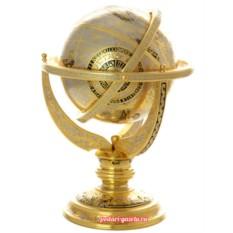Сувенирный позолоченный глобус