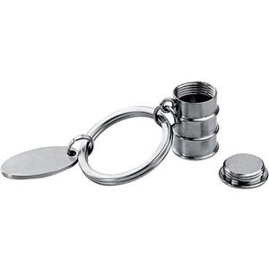 Метталический брелок «Бочка нефти»