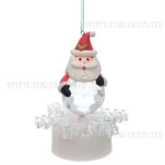 Новогоднее украшение с подсветкой Дед Мороз с шаром