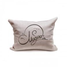 Декоративная подушка Люблю