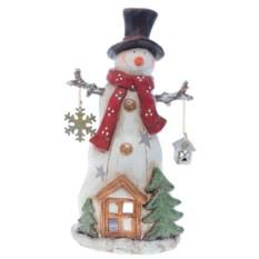 Новогодний подсвечник Снеговик