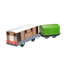 Машинка Mattel Thomas&Friends Паровозик Тоби с вагоном