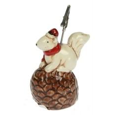 Держатель для открытки Дед Мороз-Белка