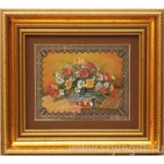 Панно-гравюра Букет с розами