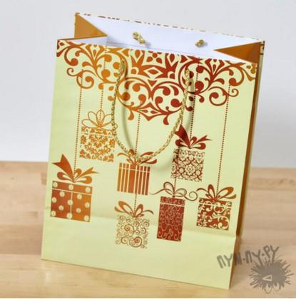 Подарочный пакет Презент (26х32х15)