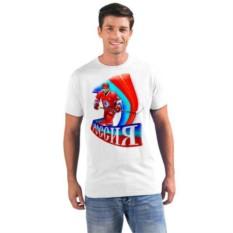 Мужская футболка Россия, хоккей