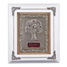 Белая ключница Древо изобилия из дерева и меди