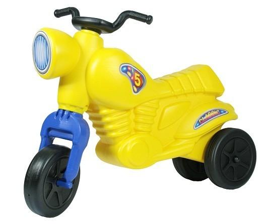 Желтый детский мотоцикл-самокат Ретро-мот