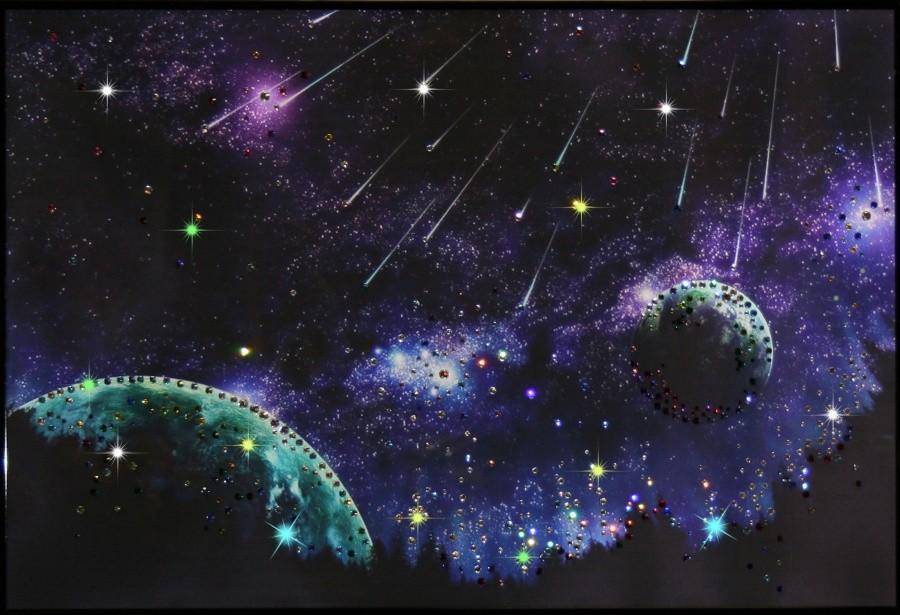 Картина с кристаллами Сваровски Звездопад