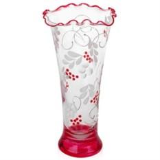 Стеклянная ваза Рябина