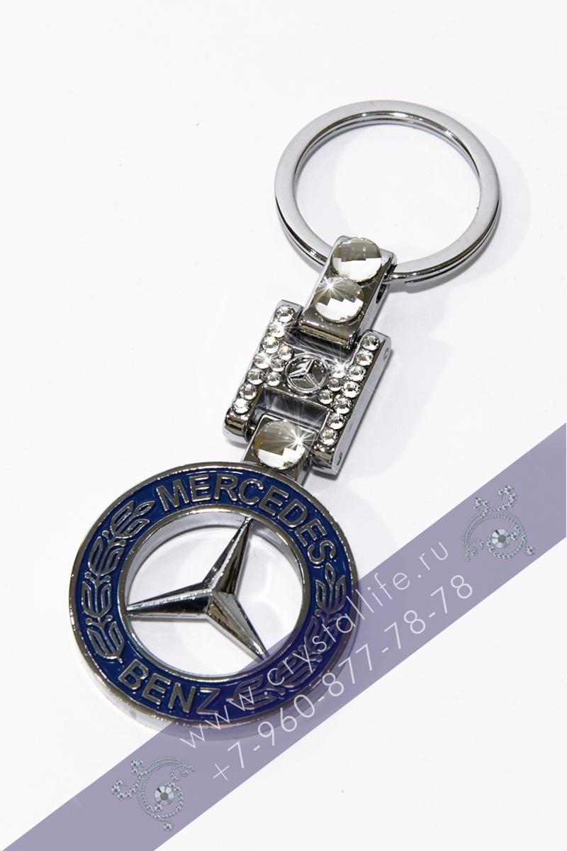 Автобрелок Сваровски Mercedes стоун