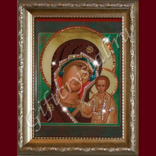 Картина из кристаллов Swarovski Икона Божией Матери Казанская