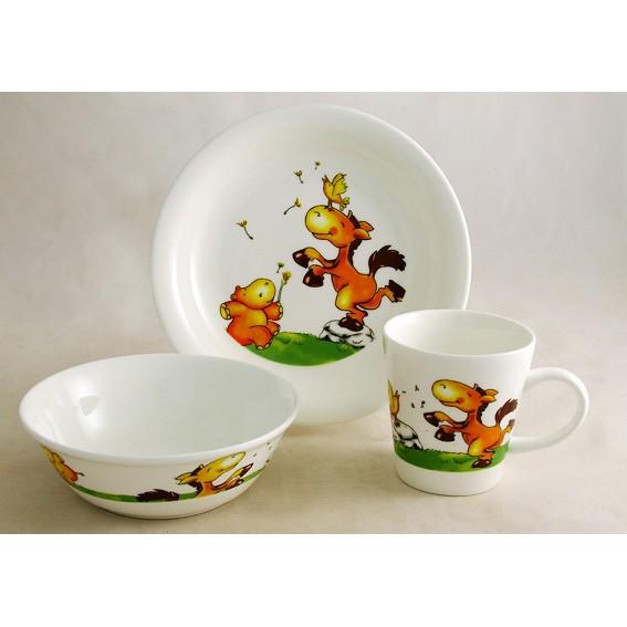 Детский набор посуды «Лошадки»