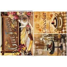 Рисовая карта для декупажа Шоколад, формат А4