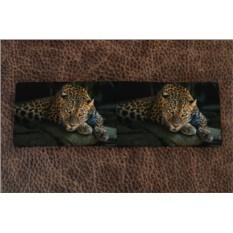 Визитница из кожи Загадочный леопард