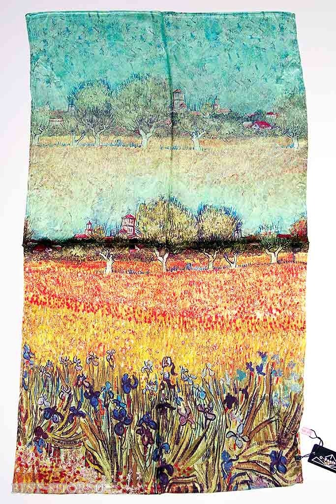 Палантин шелковый по картинам (Ван Гога)