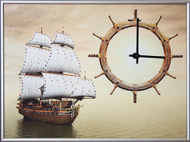 Часы с кристаллами сваровски Прямо по курсу