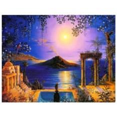Картина-раскраска по номерам на холсте Сад Теры