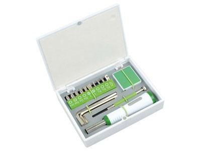 Набор инструментов для дома, 16 предметов, зеленый