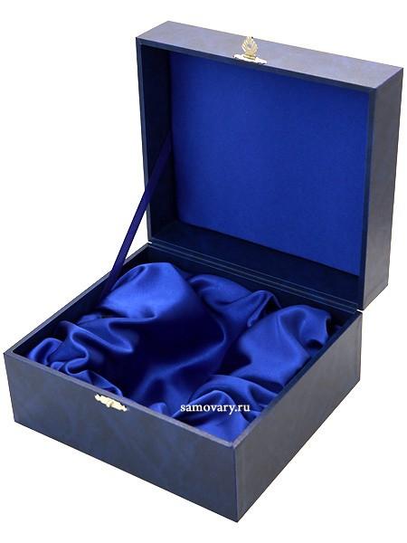 Подарочный футляр для подстаканника и ложки с замочком