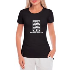 Черная женская футболка Имя