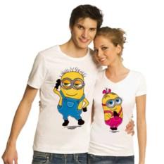 Парные футболки Миньоны, мальчик, девочка