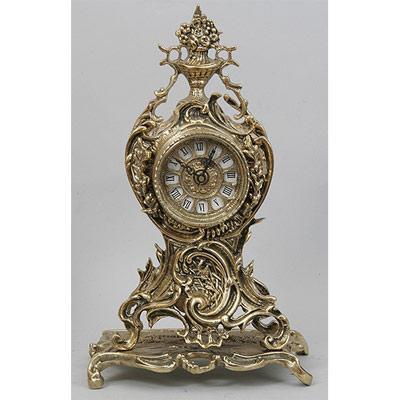 Часы настольные из бронзы «Часы с цветами» Virtus