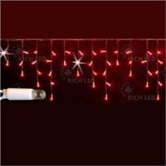 Мерцающая светодиодная бахрома красного цвета 3х0,5 м