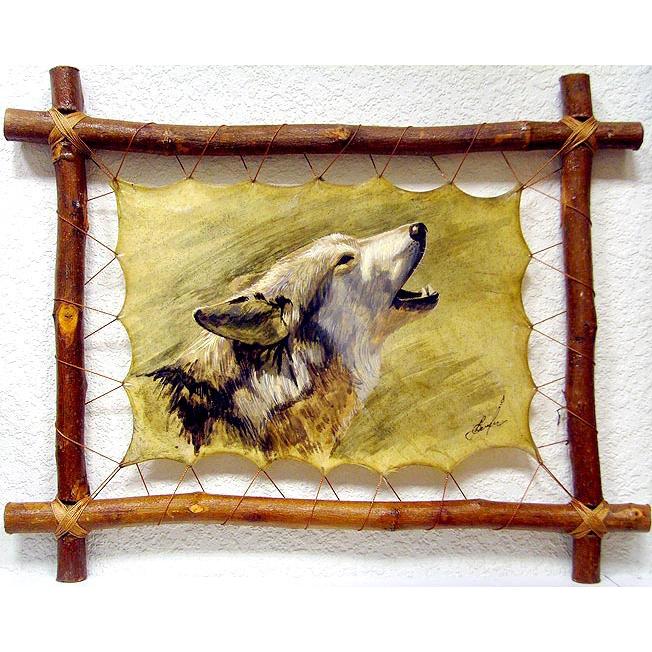 Картина на коже «Волк»