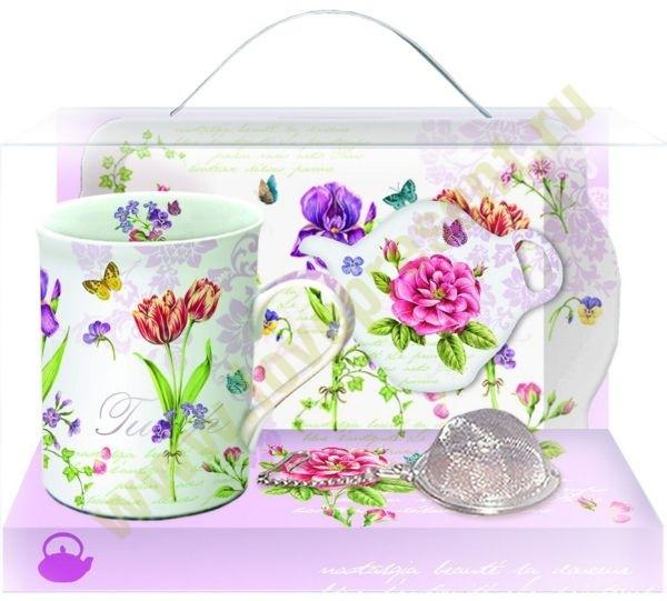 Подарочный чайный набор LES FLEURS ROMANTIQUES