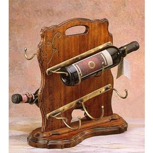 Подставка под 4 бутылки деревянная