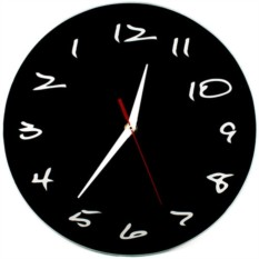 Настенные часы Античасы черные