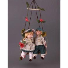 Парные фарфоровые куклы Танечка да Ванечка