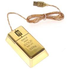 Компьютерная мышь Золотой слиток
