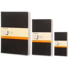 Черная записная книжка в линейку Moleskine Cahier