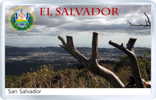 Магнит: Сальвадор. Вид на Сан-Сальвадор