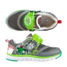 Серо-зеленые светящиеся кроссовки Angry Birds & Transformers