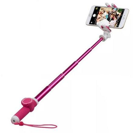 Селфи-монопод + штатив MOMAX Hero Selfie Pod 50cm KMS5 Pink