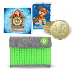 Новогодний подарочный набор с зеленым кошельком