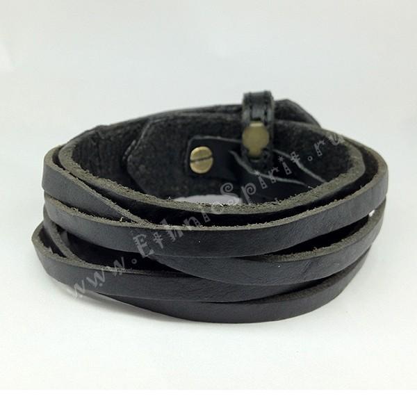 Двухслойный кожаный браслет