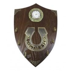 Деревянная ключница с композицией Время