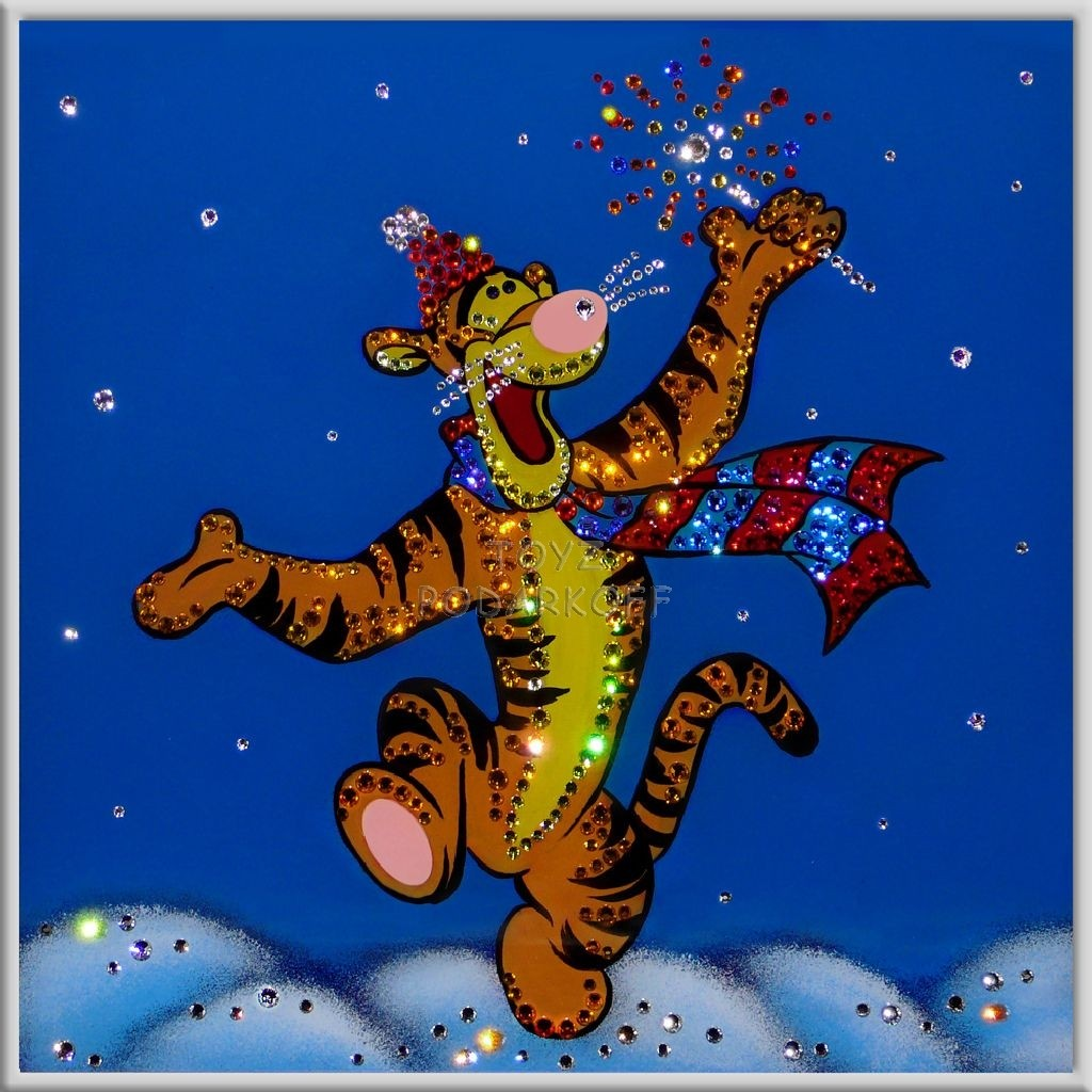 Картина с кристаллами Тигра