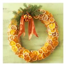 Новогодний венок Апельсиновый рай