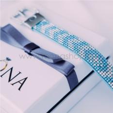 Замшевый голубой браслет «Ремешок» замшевый голубой