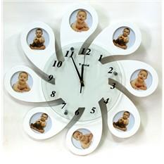 Настенные часы с фоторамками Ромашка